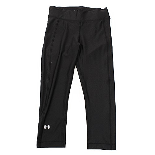 Under Armour UA Heatgear, Pantaloni a Compressione Donna, Nero (Black/Metallic Silver 001), XS