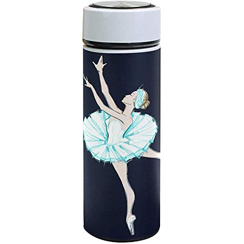 Elroy Gibbon Thermos cup Bailarina De Ballet Botella De Agua De Acero Inoxidable Vaso con Aislamiento Al Vacío De Doble Pared Taza De Viaje Termo 500 Ml