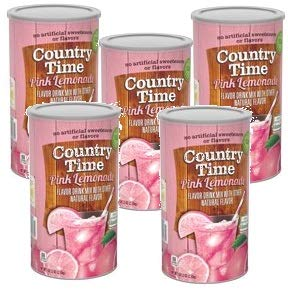 Country Time Pink Lemonade Drink Mix, 5lb. 2.5oz. (2.33 kg) 82.5 - ounce units (Pack of 5)