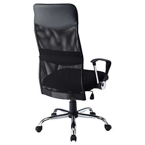 Silla de la computadora apoyabrazos for sillas de oficina Presidente de aprendizaje elevación silla del acoplamiento giratorio Conferencia silla del personal ( Color : Black , Size : 66*75.5*124.5cm )
