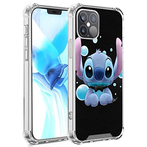 DISNEY COLLECTION Carcasa transparente para iPhone 12, diseño de Lilo Stitch 5, delgada, a prueba de golpes, antiarañazos, para iPhone 12