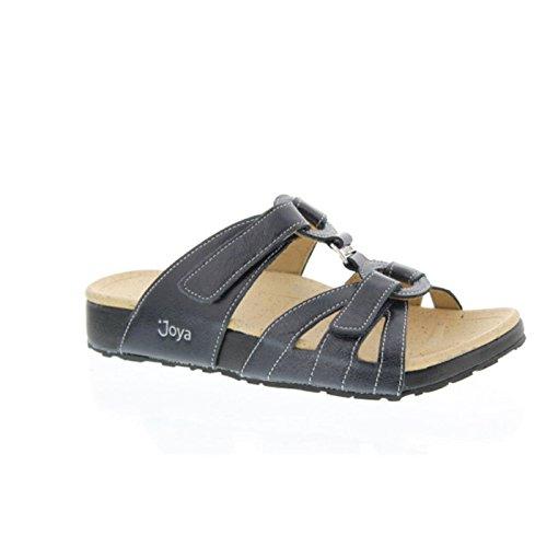 JOYA Herren Schuhe Pantolette Hausschuhe Bern Shiny Navy 555san4300u1312 (43 EU)