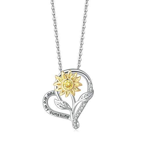Cestbon Sterling Silber Unendlichkeits Herz Kette - Platin Überzog Runde Diamant Liebes-Hängende Damen Halskette Der Schmuck,Silber