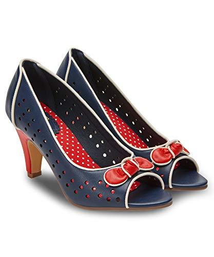 Joe Browns Damen Cosmopolitan Peep Toes Peeptoe Pumps, Blau (Navy A), 41 EU