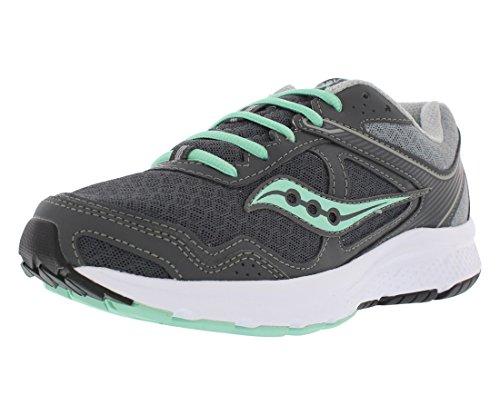 Saucony Women's Cohesion 10 Running Shoe, Grey/Mint, 8 M US