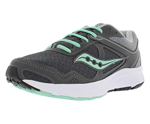 Saucony Women's Cohesion 10 Running Shoe, Grey/Mint, 6.5 W US