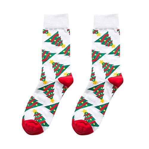 LILIHOT Damen Weihnachts Strümpfe Frauen Weihnachtsdruck Helle Farbe Socken In Der Tube Lässig Baumwollsocken Winter Warm Interessant Festlich Socken Weihnachtsdruck Kreative Schlauch Socken
