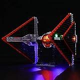 LIGHTAILING Conjunto de Luces (Star Wars Caza Tie Sith) Modelo de Construcción de Bloques - Kit de luz LED Compatible con Lego 75272(NO Incluido en el Modelo)