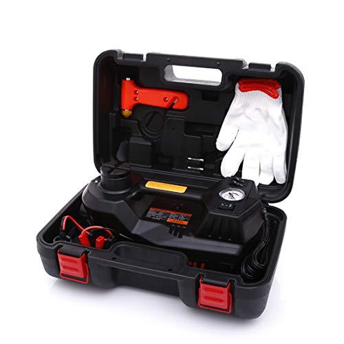 ROGTZ Electric Car Jack 5 Ton 12V Hydraulic Car Jack LED Light Portable Car Repair Tool Kit (Black)