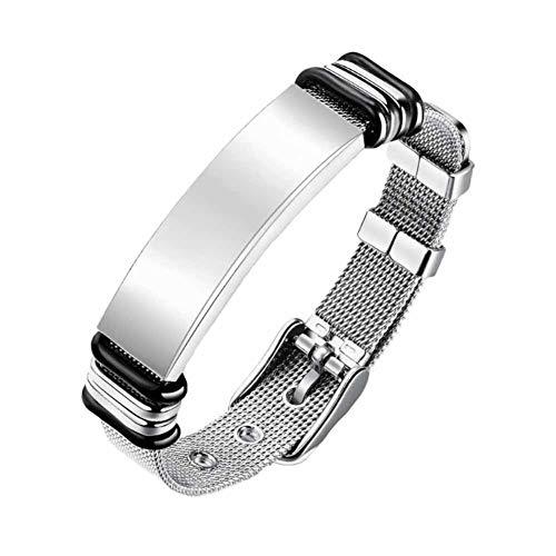 Falaiws Herren-Armband, Netz-Armband, Legierung, verstellbar, elastisch, Vintage-Stil, Legierung, Armband für Party-Touren
