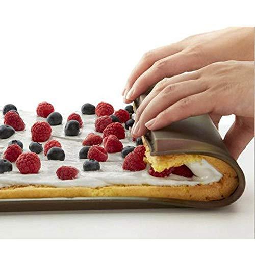 LLAAIT 1 PC Swiss Roll Pad Silicone Pad de roulement antiadhésif pan Accessoires de Cuisine gâteau Rouleau Moule de Cuisson Tapis Pad pâtisserie Outil Dropship, Vert