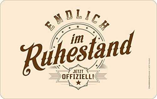 RAHMENLOS Original Frühstücksbrettchen Schneidbrettchen: Im Ruhestand - jetzt offiziell