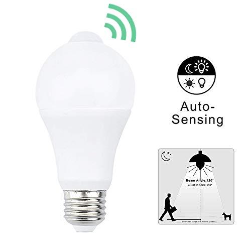 Bonlux E27 LED 9W PIR Motion Sensor Birne mit Bewegungsmelder Glühbirne Warmweiß 3000K 900LM ersetzt 90W Glühlampe 360°Abstrahlwinkel für Innenbeleuchtung (1 Stück Nicht Dimmbar)