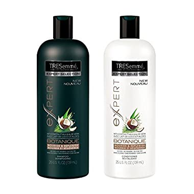 TRESemme Botanique Nourish and Replenish, Shampoo and Conditioner Duo Set 25 Ounce Bottles