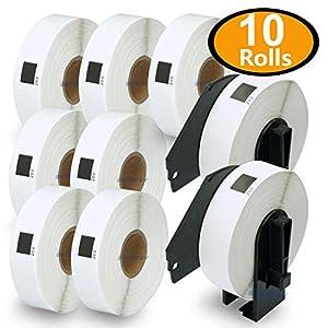 10x Adress Etiketten Rollen für Brother P-Touch DK-11202 62x100mm QL 1050N