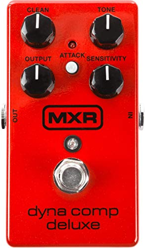 MXR Dyna Comp Deluxe Compressor Guitar Effects Pedal (M228) , Red