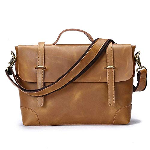 Marks Mochila al Aire Libre marrón de Cuero Casual Bolso de Hombre Bolsa de Mensajero Hombre Bolsa de Cuero Hombre Loco Caballo maletín de Cuero Moda Bolso Retro