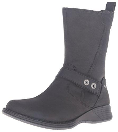 Merrell Travvy Mid Femmes Waterproof Boot, Noir, 37.5 B(M) EU