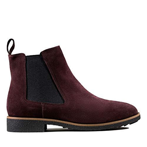 Clarks Damen Griffin Plaza Chelsea Boots, Braun (Burgundy Suede), 40 EU