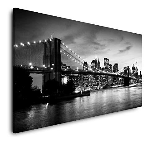 Paul Sinus Art Skyline Manhattan 120x 60cm Panorama Leinwand Bild XXL Format Wandbilder Wohnzimmer Wohnung Deko Kunstdrucke
