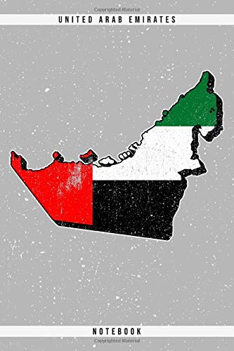 United Arab Emirates. Notebook: Dotted Notebook with 120 pages. Cool illustration with the United Arab Emirates map and flag. Ideal to write down important things