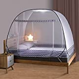 Olingline Mosquito Net for Bed Twin to King Size Pop UP Mosquito Netting with Bottom Foldable Mosquito Nets Large Portable for Baby Adults 72 x 78 x 59 inch