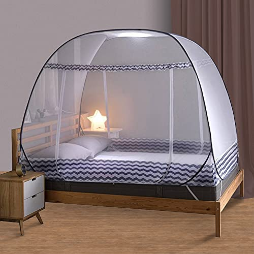 Olingline Mosquito Net for Bed Full to King Size Pop UP Mosquito Netting with Bottom Foldable Mosquito Nets Large Portable for Baby Adults 72 x 78 x 59 inch