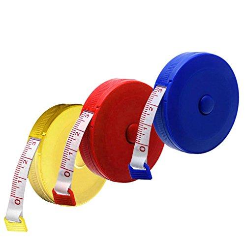 Retractable Tape Measure, Body Tailor Sewing Craft Cloth Tape Measure Tiny Tool-Random Color