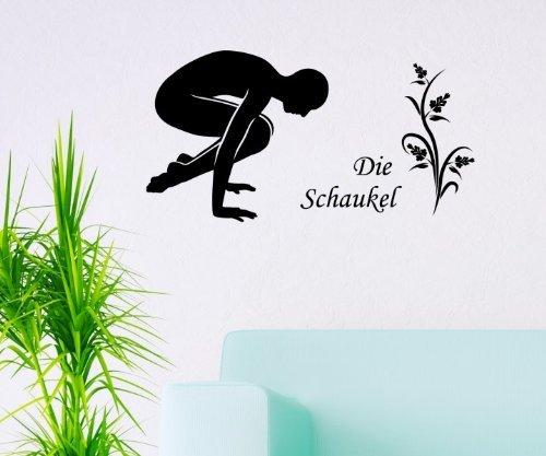 Wandtattoo Die Schaukel Yoga Übung Sport Wand Sticker Tattoo Aufkleber 5G107, Farbe:Braun glanz;Breite vom Motiv:40cm