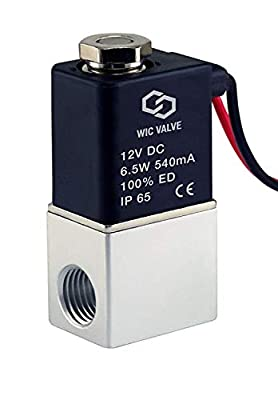 """1/4"""" Inch Normally Closed Fast Response Electric Air Water Solenoid Valve 12V DC by Carb Omar"""