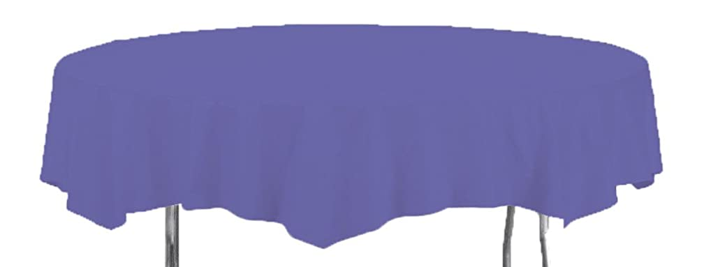 Creative Converting Octy-Round Paper Table Cover, 82-Inch, Purple