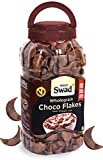 Swad Breakfast Cereal Wholegrain Choco Flakes (High Fibree Wheat Chocos Childrenn Cereal) Jar 350 G
