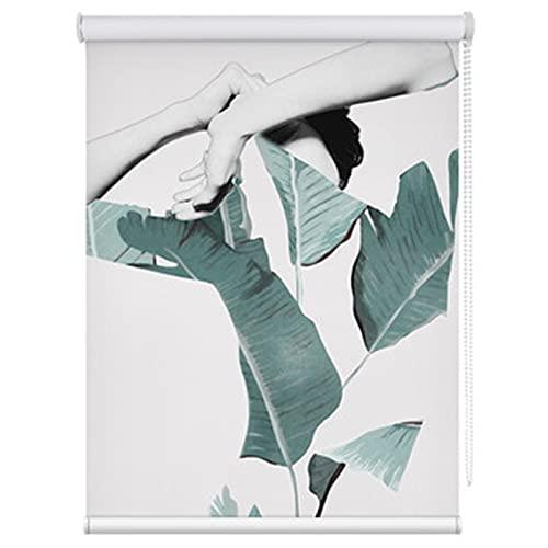 LIQICAI Cortina enrollable opaca, resistente al agua, con filtro de luz, protección UV para el día y la noche, para sala de estar, dormitorio, personalizable (color: multicolor, tamaño: 130 x 220 cm)