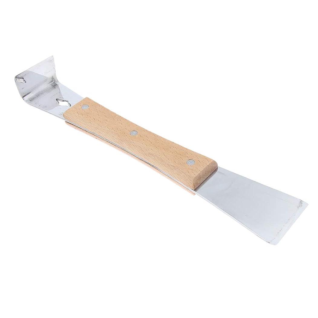 傾向キャリアペレットD DOLITY ハイブスクレーパー 巣箱スクレーパー ステンレス鋼 木製ハンドル 養蜂用具 スクレーパー用具 1個