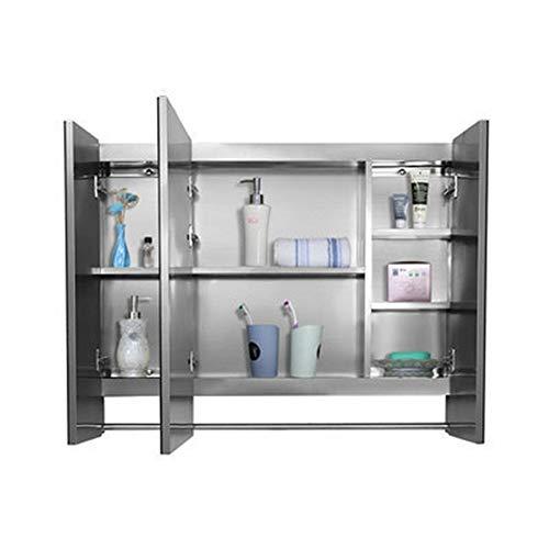 Armario de almacenamiento Gabinete de pared de baño con tres puertas de...