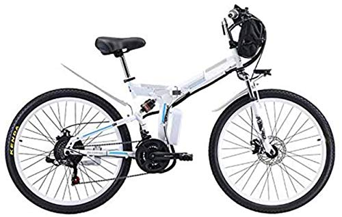 Alta velocidad Asistida bicicleta plegable de 26 pulgadas de acero al carbono de 350 W / 500 W Motor horcajadas fácil compacta batería de litio extraíble 48V de montaña bicicleta plegable eléctrica