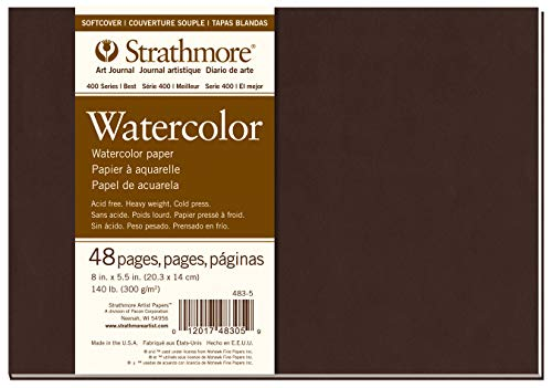 Strathmore 483-5 Softcover Watercolor Art Journal