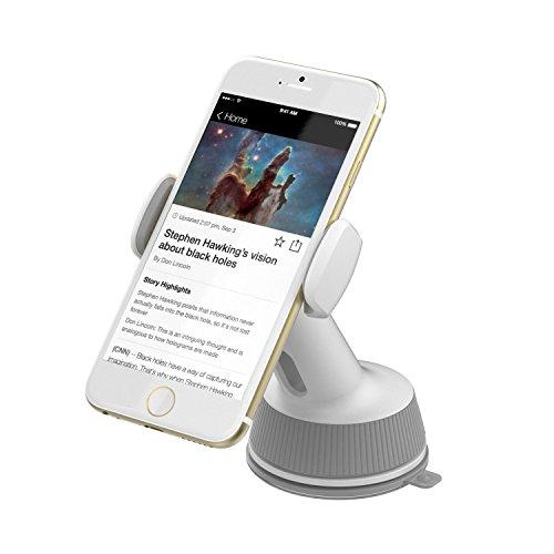Sabrent KFZ-Zubehör Universal Auto KFZ Fenster/Armaturen Halterung für die meisten Smartphones [Weiß] (cm-SPHW)
