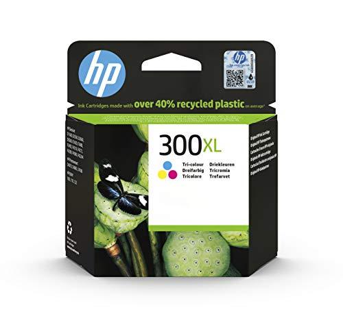 HP 300XL CC644EE, Tricolor, Cartucho de Tinta de Alto Rendimiento Original, compatible con impresoras de inyección de tinta HP DeskJet D2560, D2660, F4280, F4224, F4283; Photosmart Serie C