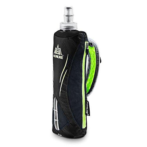 Aonijie Quick Grip Hand-Trinkflasche zum Laufen, Handschlaufe, Trinkrucksack mit 500 ml weicher Flasche Wasserflasche (schwarz)