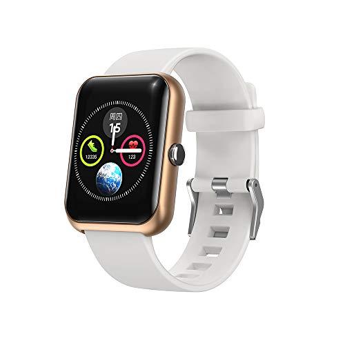 Smartwatch, 3,3 cm (1,3 Zoll) Touchscreen, Fitness-Tracker mit Pulsmesser, IP68 wasserdicht, Aktivitätstracker mit Schlafüberwachung, Smart-Armband für Herren, für iPhone und Android-Handys (Gold)