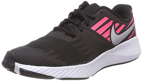 NIKE Star Runner (GS), Scarpe Running Bambina, (Black/Metallic Silver-Racer Pink-Volt 004), 36.5 EU