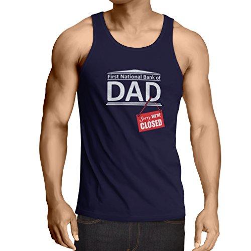 Camisetas de Tirantes para Hombre El Regalo Divertido para el papá FNB está Cerrado Día de Padres (XX-Large Azul Multicolor)