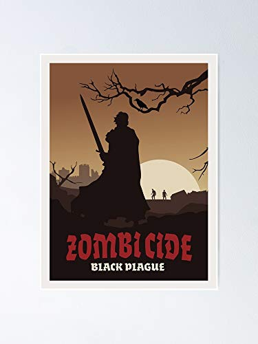 AZSTEEL Zombicide Black Plague Board Game- Minimalist Travel Poster Style - Gaming Art Best Gift For Mothers Day