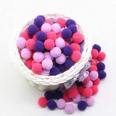 HONGTAI Mini Spring new work Fluffy Max 87% OFF Pompom Mixed Pom Plush Soft Color Balls