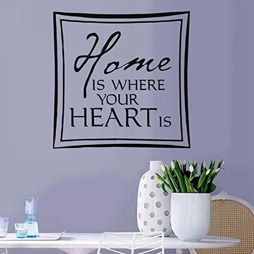 Englisch Wandaufkleber nach Hause kreative Wanddekoration Wohnzimmer Hintergrund einfache PVC selbstklebende Tapete 33x57cm