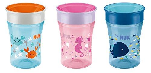 NUK Magic Cup Trinklernbecher, 360° Trinkrand, auslaufsicher abdichtende Silikonscheibe, 230ml, BPA-frei, Blau - 6