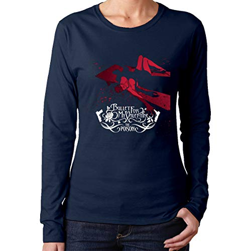 Women's T-Shirt Comfortable Bullet For My Valentine The Poison Navy Cotton tee XXL
