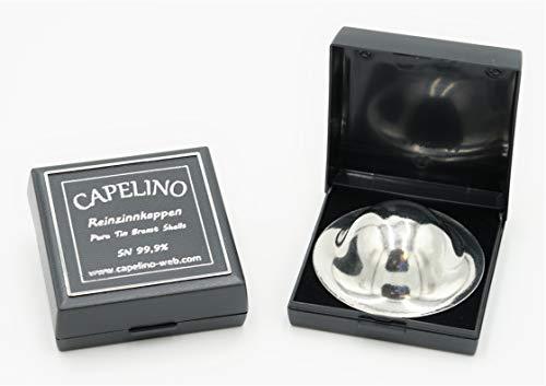 Capelino Zinnhütchen - Schutz für Ihre Brustwarze - 99,9% Reinzinn - inkl. stabiler Aufbewahrungsbox