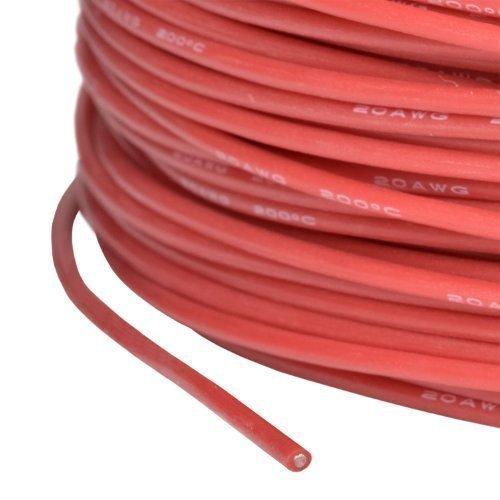 partCore Silikonkabel AWG 20 0.5 qmm hochflexibel Supersoft rot